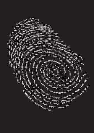 Impresión de dedo de privacidad.