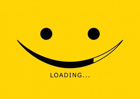 alegria: Cargando vector icono - cara de sonrisa,