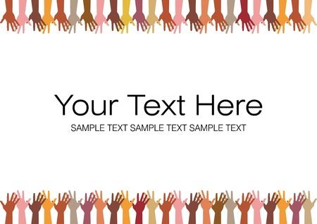 voting: Konzept von Happy Hands, Vektor-Illustration