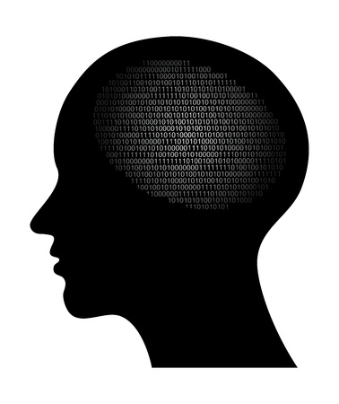 personality: resumen ilustraci�n vectorial de alta tecnolog�a con c�digo binario