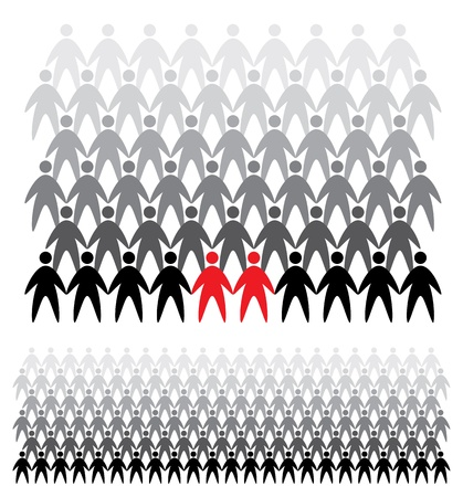 social gathering: Background of people icons, abstract vector illustration Illustration