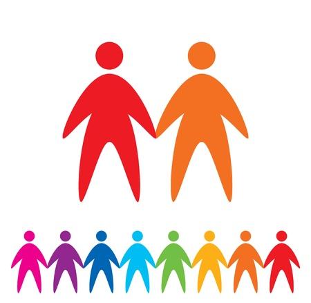 Mensen iconen, abstracte vector illustratie