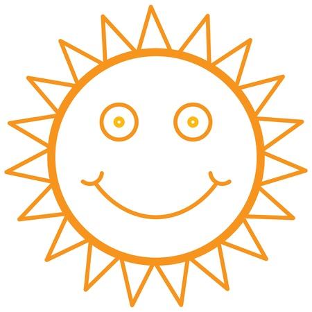 brightness: smiley sun, vector illustration Illustration