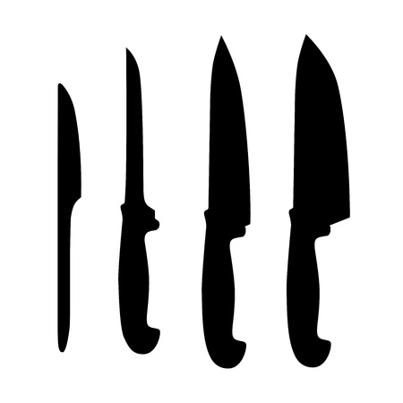 cookery: Set of table knifes, abstract vector illustration  Illustration