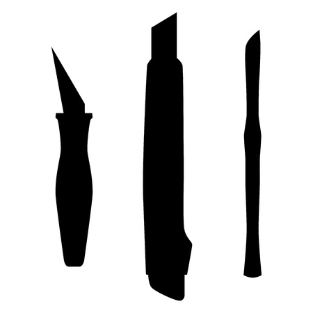 Working Knifes, abstract vector illustration  Vector