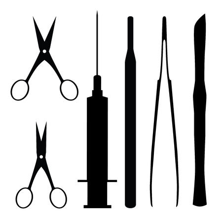 injectie: medische hulpmiddelen, abstracte vector illustratie