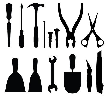 plumber with tools: Conjunto de herramientas, ilustraci�n vectorial abstracto Vectores