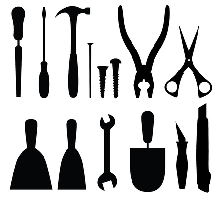 toolbox: Set of tools, abstract vector illustration