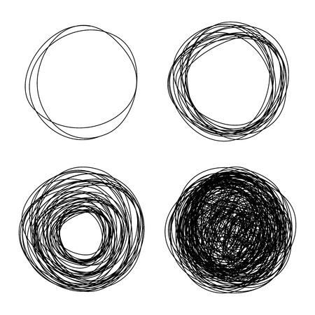 garabatos: lápiz dibujado círculos burbujas