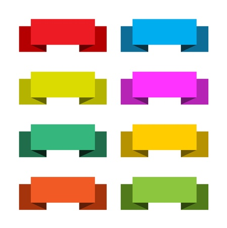 Colorful set of 8 banners, abstract illustration  Vector