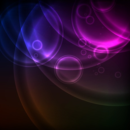 Shiny Circles, Background Vector