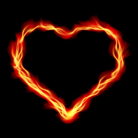 Heart in Fire, abstract  background Vector