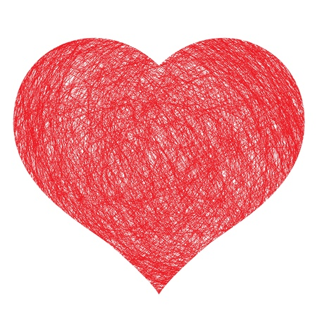 hand drawn heart,  illustration for design