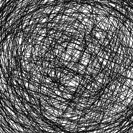garabatos: mano de fondo dibujado, ilustración abstracta