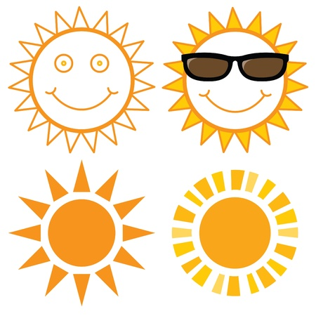 Suns illustrations for design  Illustration