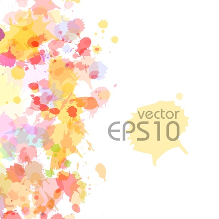 abstract watercolor blobs background,  Illustration
