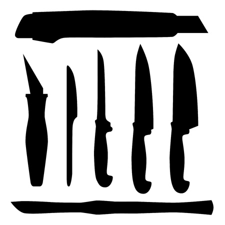 retractable: Set of  Knifes, abstract vector illustration Illustration
