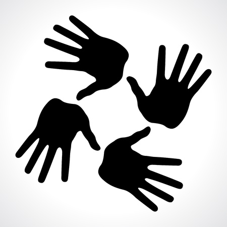 hand prints icon, abstract vector illustration for design  イラスト・ベクター素材