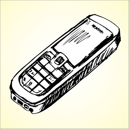Cell phone sketch Vector