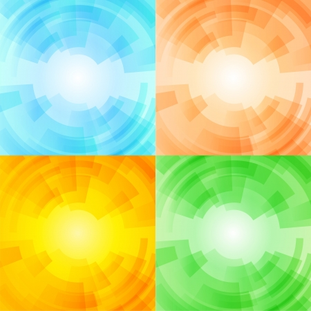 Set of season backgrounds Vector