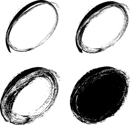 charcoal: hand drawn ovals