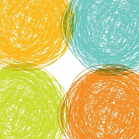 garabatos: Por colorido dibujado de fondo, ilustraci�n vectorial abstracto