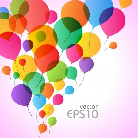 globo: Globos de colores de fondo, ilustraci�n vectorial para el dise�o Vectores