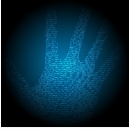 blue technology background, vector illustration eps10 Stock Vector - 14152895