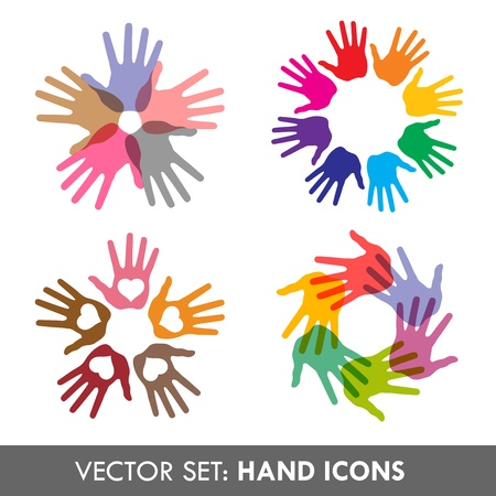 Collection of vector hand  icons for your business artwork  Vector illustration