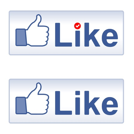 thumbs up group: Thumb Up and Like, social media icon Illustration