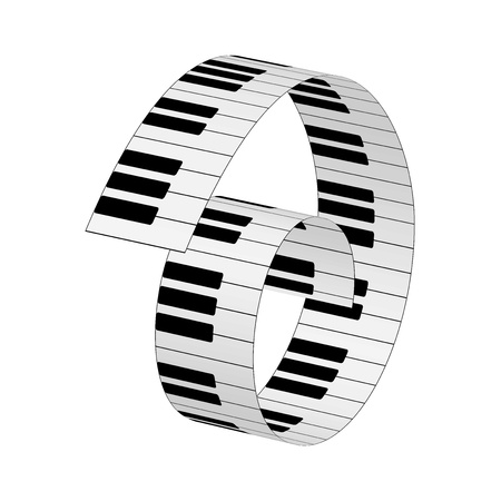 musical score: Piano keys, vector background