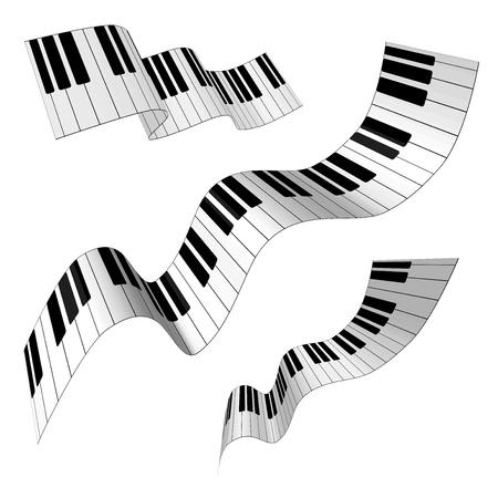 teclado de piano: Teclas de un piano