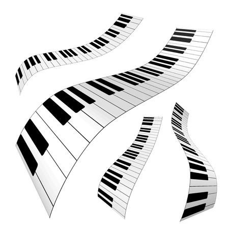 Teclas de un piano Ilustración de vector