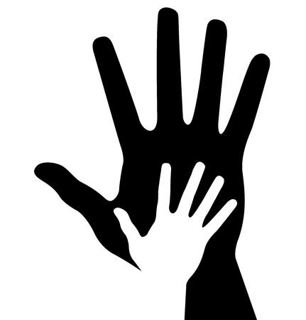 Caring hand, abstract illustration for design Vektoros illusztráció