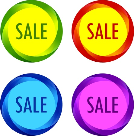 ecomerce: Set of unusual Sale labels Illustration