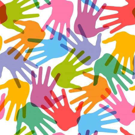 Seamless handprint illustration vectorielle, pour la conception
