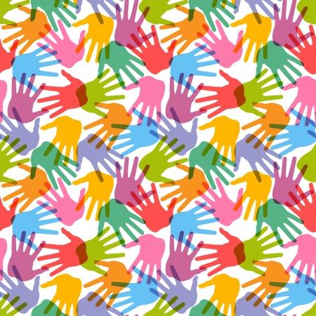 handprint: Seamless handprint pattern