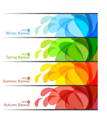 Set of Season Banners, abstract vector illustrations  Vector