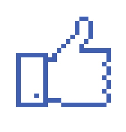 pixelated Thumb Up icon  Vector