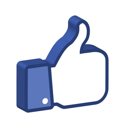 like button: 3d Thumb Up