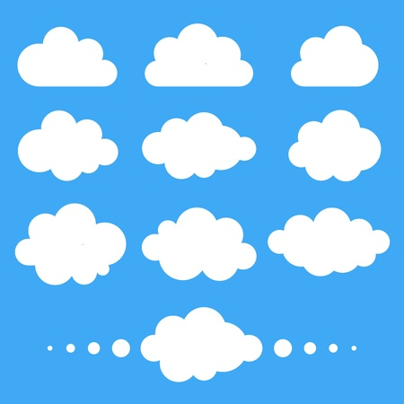 clouds scape: Set of  clouds, vector illustration