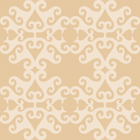 Seamless eastern beige ornamental wallpaper, vector