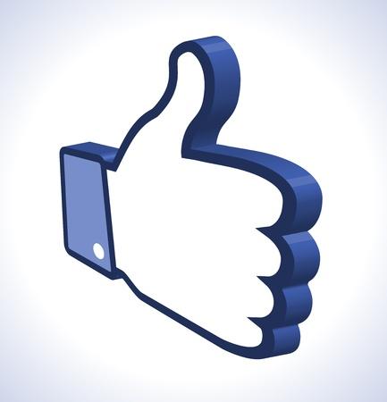3d Thumb Up Stock Vector - 14931569