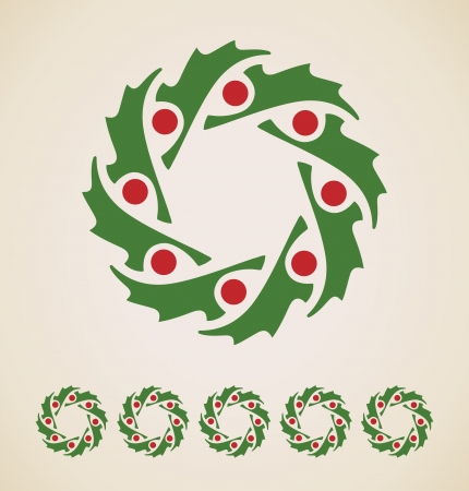 Christmas garland vintage element Vector