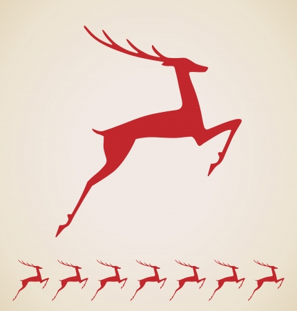 red deer: Christmas deer vintage element Illustration