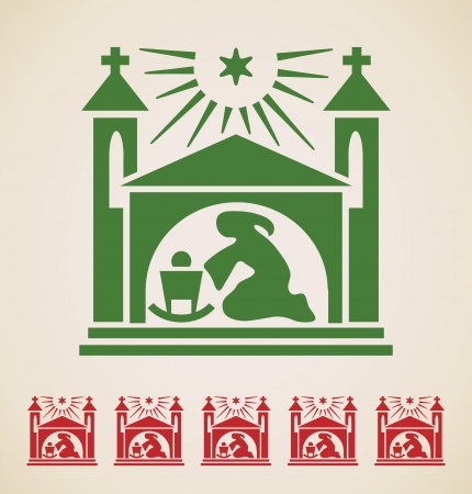 Christmas icon, vintage vector design element  Vector