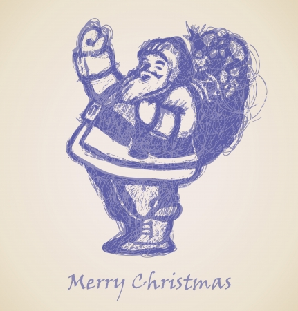 Santa Claus Sketch, Christmas design element Stock Vector - 15339566