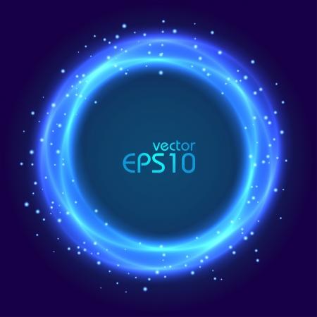 night vision: Abstract blue glowing circle