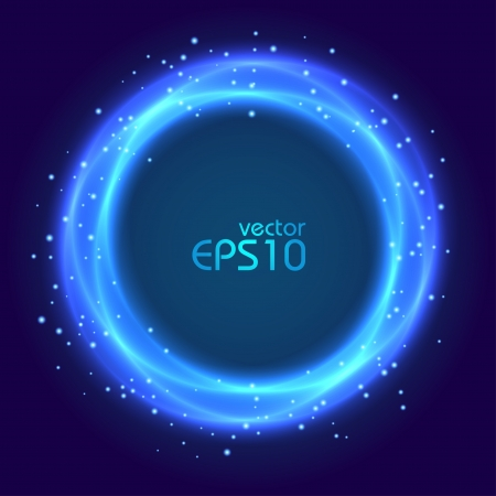 vision nocturna: Resumen c�rculo azul que brilla intensamente Vectores