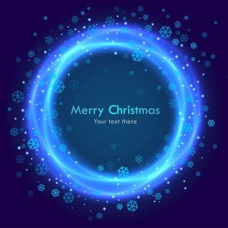 Abstract christmas blue background with  snowflakes Vector